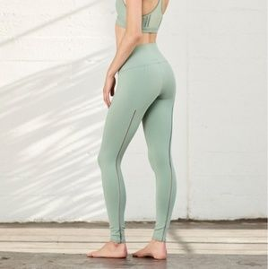 Alo Yoga | High Waisted Dash Mesh Back Leggings